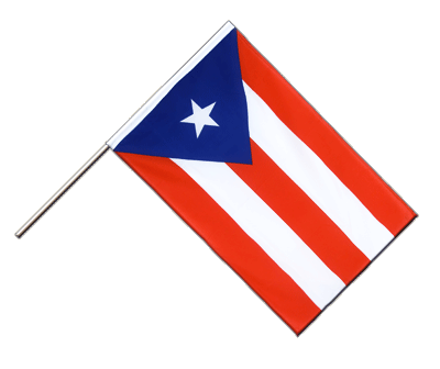 Hand Waving Flag ECO Puerto Rico - 2x3 ft