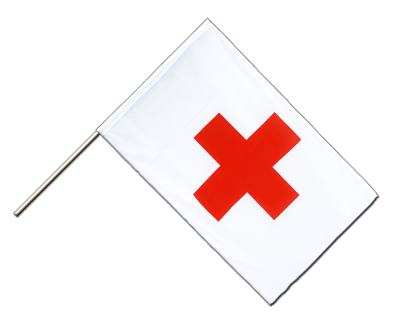 Hand Waving Flag ECO Red Cross - 2x3 ft