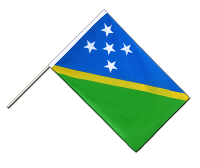 Hand Waving Flag ECO Solomon Islands - 2x3 ft
