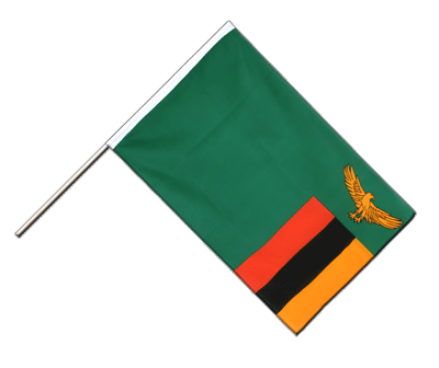 Zambia Hand Waver Flag ECO - 2x3 ft