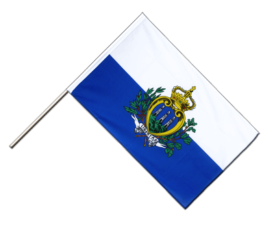 Hand Waving Flag ECO San Marino - 2x3 ft
