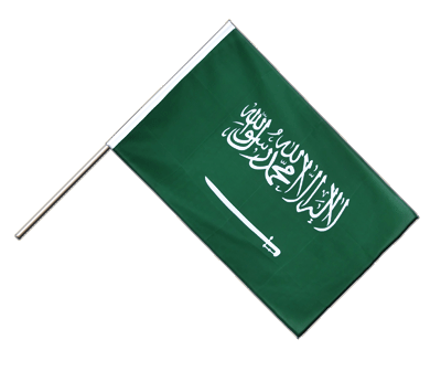 Hand Waving Flag ECO Saudi Arabia - 2x3 ft