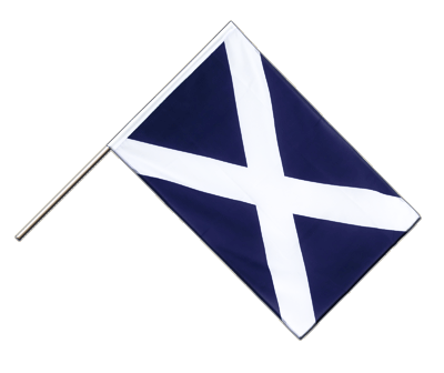 Hand Waving Flag ECO Scotland navy - 2x3 ft