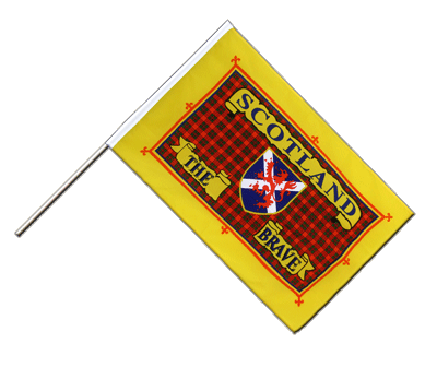 Stockflagge/Stockfahne ECO Schottland Scotland The Brave - 60 x 90 cm