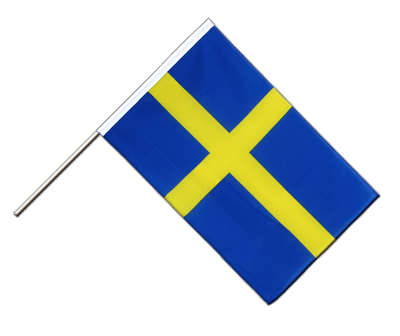 Hand Waving Flag ECO Sweden - 2x3 ft