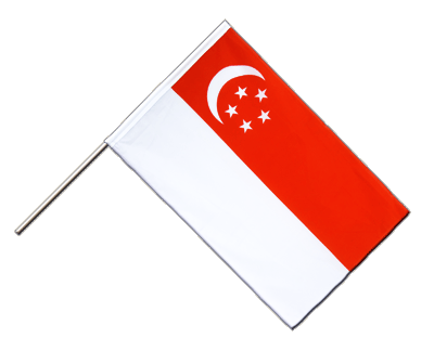 Hand Waving Flag ECO Singapore - 2x3 ft