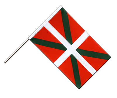 Hand Waving Flag ECO Basque country - 2x3 ft