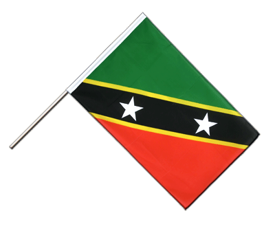 Hand Waving Flag ECO Saint Kitts and Nevis - 2x3 ft