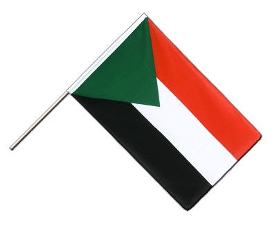 Hand Waving Flag ECO Sudan - 2x3 ft