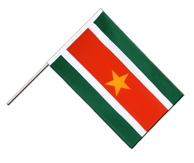 Hand Waving Flag ECO Suriname - 2x3 ft