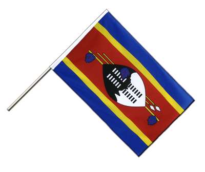 Hand Waving Flag ECO Swaziland - 2x3 ft