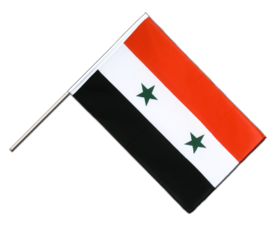 Hand Waving Flag ECO Syria - 2x3 ft