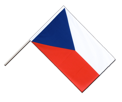 Hand Waving Flag ECO Czech Republic - 2x3 ft