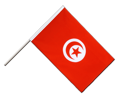 Hand Waving Flag ECO Tunisia - 2x3 ft