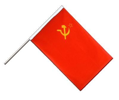Hand Waving Flag ECO USSR Soviet Union - 2x3 ft