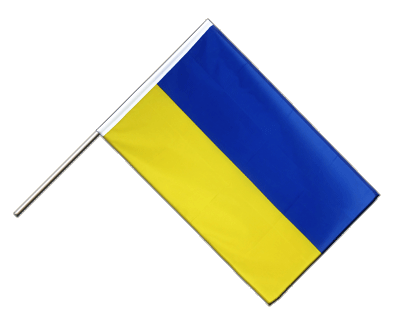 Hand Waving Flag ECO Ukraine - 2x3 ft