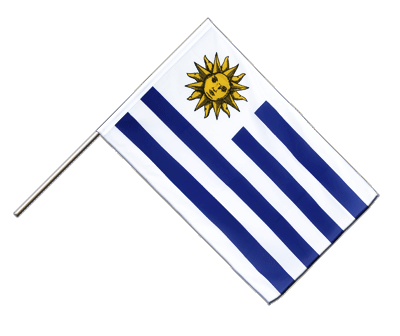 Hand Waving Flag ECO Uruguay - 2x3 ft