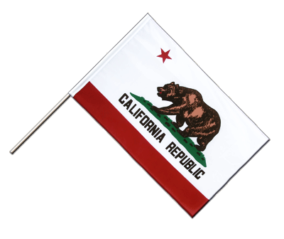 Hand Waving Flag ECO California - 2x3 ft