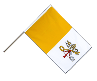 Hand Waving Flag ECO Vatican - 2x3 ft