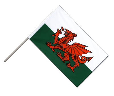 Hand Waving Flag ECO Wales - 2x3 ft