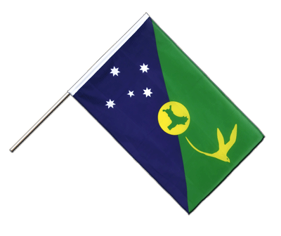 Hand Waving Flag ECO Christmas Island - 2x3 ft