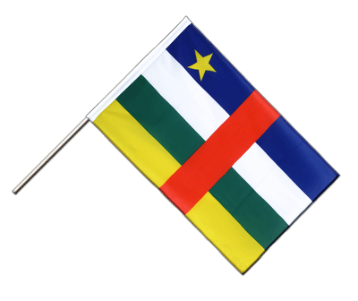 Hand Waving Flag ECO Central African Republic - 2x3 ft