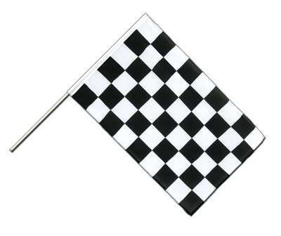 Hand Waving Flag ECO Checkered - 2x3 ft