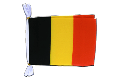 "Belgium Mini Bunting Flags - 6x9"", 3 m"
