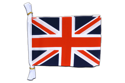 "Mini Flag Bunting Great Britain - 6x9"", 3 m"