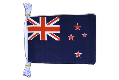 "Mini Flag Bunting New Zealand - 6x9"", 3 m"