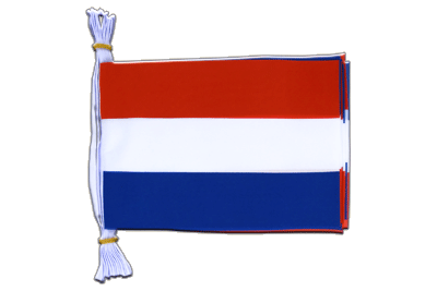 "Mini Flag Bunting Netherlands - 6x9"", 3 m"