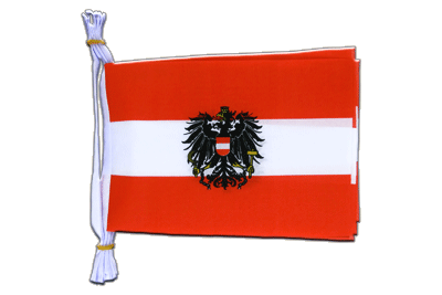 "Mini Flag Bunting Austria eagle - 6x9"", 3 m"