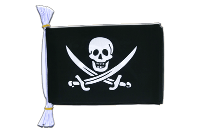 "Mini Flag Bunting Pirate with two swords - 6x9"", 3 m"
