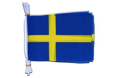 "Mini Flag Bunting Sweden - 6x9"", 3 m"