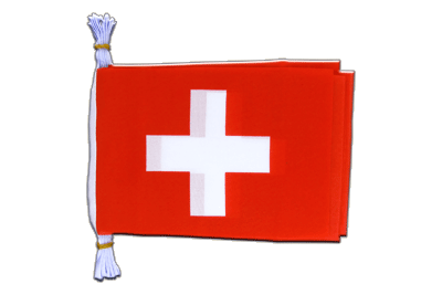 "Mini Flag Bunting Switzerland - 6x9"", 3 m"