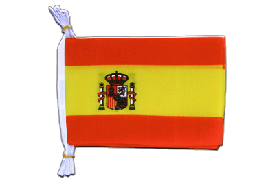 "Mini Flag Bunting Spain with crest - 6x9"", 3 m"