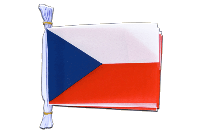 "Mini Flag Bunting Czech Republic - 6x9"", 3 m"