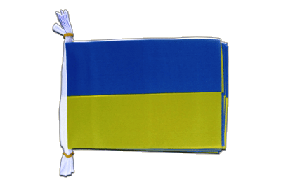 "Mini Flag Bunting Ukraine - 6x9"", 3 m"