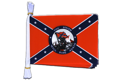 "Mini Flag Bunting USA Southern United States South will rise again - 6x9"", 3 m"