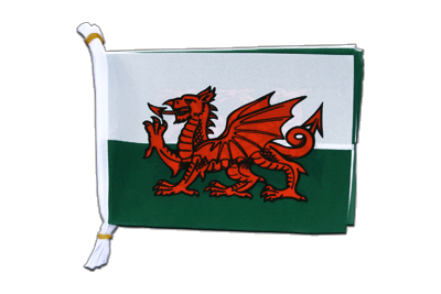 "Wales Mini Bunting Flags - 6x9"", 3 m"