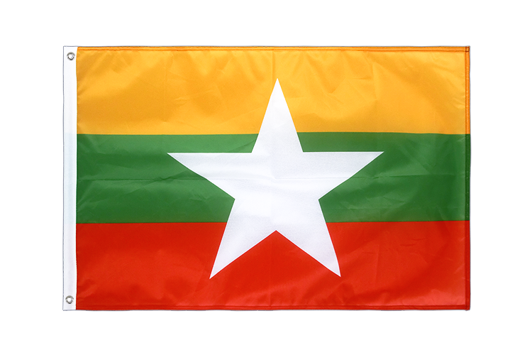 Myanmar new Grommet Flag PRO - 2x3 ft