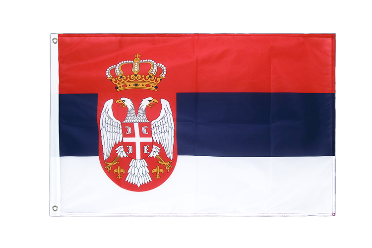 Grommet Flag PRO Serbia with crest - 2x3 ft