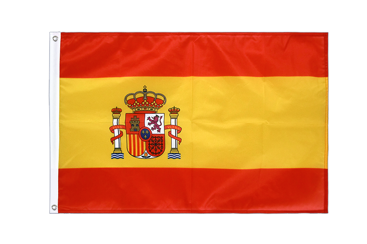 Grommet Flag PRO Spain with crest - 2x3 ft
