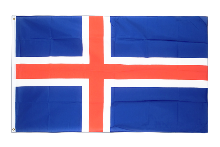 Large Flag Iceland - 5x8 ft (big and giant)