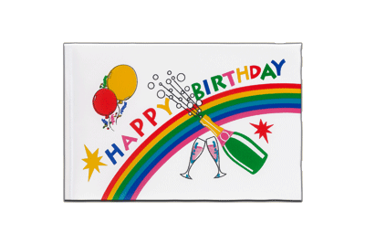 Fanion drapeau Happy Birthday 15x22 cm