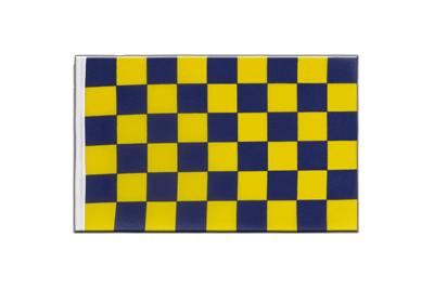 Little Flag Checkered Blue-Yellow - 6x9""