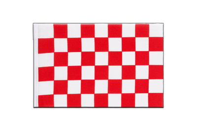 Little Flag Checkered Red-White - 6x9""