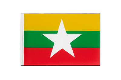 Little Flag Myanmar new - 6x9""