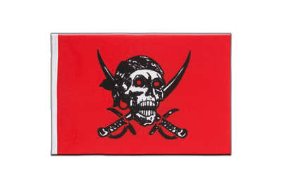 Fanion drapeau Pirate rouge 15x22 cm