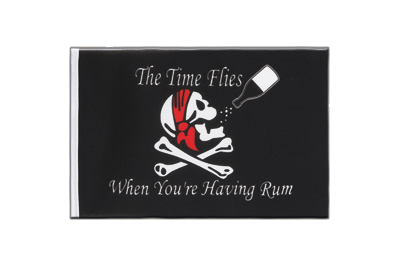 Pirat The Time Flies When You are Having Rum - Minifahne 15 x 22 cm